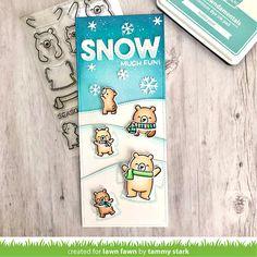 Lawn Fawn Intro: Snow Much Fun, Waving Pull Tab Starter Set, Snowflake Border - Lawn Fawn