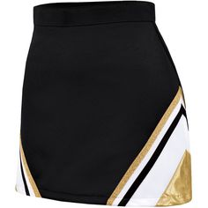 Chassé Metallic A-Line Wing Skirt ($22) ❤ liked on Polyvore featuring skirts, cheer, cheerleader, sports, sports skirts, sport skirts, a line skirt, metallic skirt and knee length a line skirt