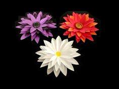 How to make: Paper Flower Tutorial. Link download: http://www.getlinkyoutube.com/watch?v=ox02aDwdi-o