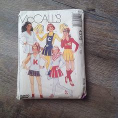 Vintage Mccall's Pattern 4376 Girls Size 7/8 Cheerleader Halloween Costume #McCalls