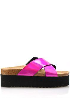 Růžové vysoké kožené zdravotní pantofle EMMA Shoes(18388) - 1 Pool Slides, Sandals, Shoes, Fashion, Moda, Shoes Sandals, Zapatos, Shoes Outlet, Fashion Styles