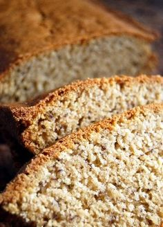 Easy Gluten Free Banana Bread Ingredients c. gluten free all purpose flour 1 t. baking soda ½ t. salt ⅓ c. butter ⅔ c. Gluten Free Deserts, Gluten Free Sweets, Gluten Free Breakfasts, Foods With Gluten, Gluten Free Cooking, Dairy Free Recipes, Recipe For Gluten Free Banana Bread, Bread Recipes, Mad