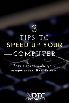 Speed up your computer with these simple tips.