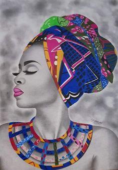 Best 11 African is beautiful – SkillOfKing. Black Art Painting, Black Artwork, Black Love Art, Black Girl Art, Arte Black, Afrique Art, African Art Paintings, Graffiti Wall Art, Black Art Pictures