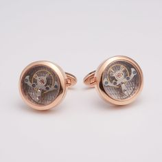 Big Ben Movement Cufflink // Rose Gold