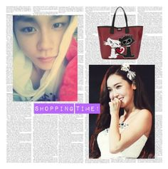 """shopin with jessica"" by kpop-boy-anons ❤ liked on Polyvore featuring beauty and Karl Lagerfeld"