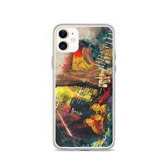 Kirk Hammett's electric guitar, iphone 11 case, iphone 6 case, iphone 7 case, iphone 8 case, iphone x case, iphone xs case, iphone xr case Guitar Painting, Guitar Art, Iphone 8 Cases, Iphone 11, 6 Case, Cool Artwork, Etsy Store, Man Cave, Guitars