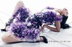 Candice Swanepoel is unrecognizable in Prabal Gurung campaign | Daily Mail Online -- January 2012