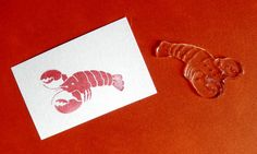 Lobster stamp color on place card indicates meal choice.