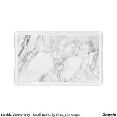 Marble Vanity Tray - Small Rectangle