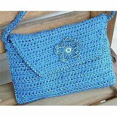 Crochet Pattern for Envelope Shoulder Bag