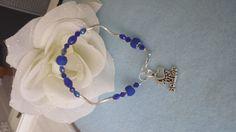 Bracet I Love my Soldier blue by JewelrybySylvie on Etsy