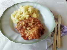 Bravčové rezne v cestíčku z kyslej smotany - recept | Varecha.sk Risotto, Mashed Potatoes, Treats, Ethnic Recipes, Whipped Potatoes, Sweet Like Candy, Goodies, Smash Potatoes, Snacks