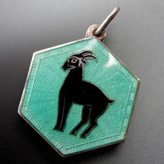Antique David Andersen Capricorn Zodiac Sign Enamel Charm Pendant – Gold Stream Boutique