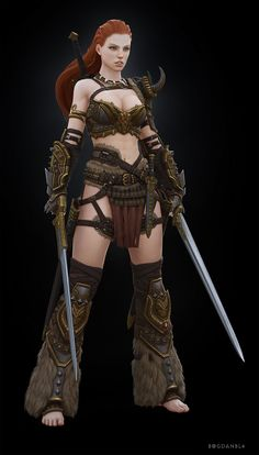 Barbarian Female Picture  (3d, fantasy, fan art, barbarian, female, girl, woman, warrior)
