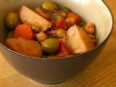 A Vegetarian Passover: Potato, Tomato, and Olive Stew