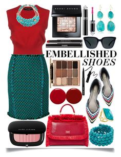 """""""Embellished Shoes"""" by ittie-kittie ❤ liked on Polyvore featuring Stuart Weitzman, Dolce&Gabbana, Gianluca Capannolo, Kenneth Jay Lane, Maybelline, Stila, Bobbi Brown Cosmetics, Marc Jacobs, Guerlain and Chanel"""