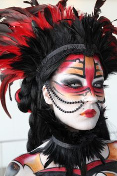 Make-up Miia Ollula, first-place winner in the IMATS Toronto 2011 beauty/fantasy.