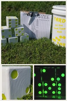 Everyone likes yard dice games but you are going to love the glow in the dark yard dice we have created! Yard Dice, Game Night Parties, Yard Games, Dice Games, Summer Picnic, Best Part Of Me, Party Favors, Glow, Dark