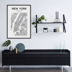 New York Map Print New York Map United States City