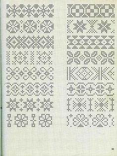 Embroidery stitches border fair isles 57 new ideas Cross Stitch Bookmarks, Cross Stitch Borders, Crochet Borders, Cross Stitch Charts, Cross Stitch Embroidery, Cross Stitch Patterns, Fair Isle Knitting Patterns, Knitting Charts, Loom Patterns