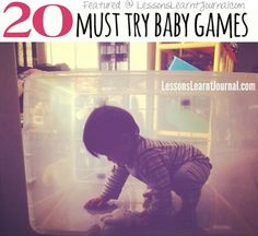 20 must try baby games, because play matters. via Lessons Learnt Journal