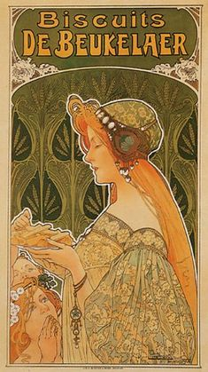 Amazon.com: BISCUITS DE BEUKELAER COOKIES BAKERY ART NOUVEAU VINTAGE POSTER ON CANVAS REPRO: Prints: Posters & Prints