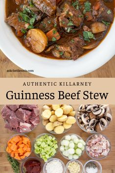 Slow Cooker Recipes, Beef Recipes, Soup Recipes, Dinner Recipes, Cooking Recipes, Dinner Ideas, Guinness Beef Stew, Food Porn, Kitchens