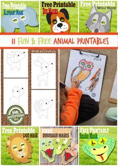 11 Fun and Free Animal Printables - Parenting Tips:  http://kidsmakingchange.com