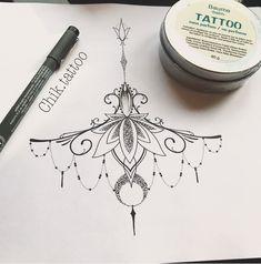 lotus underboob tattoo gem moon delicat