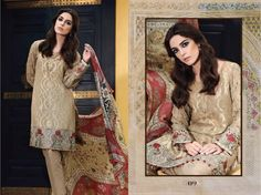 Maria.B Eid Lawn 2017  (D09) Coffee Embroidered Unstitched Home Delivery all Pakistan (Rs.7790)  For order inbox us or contact 03004295472 #MARIAB #Eidcollection #Lawn #Embroidered