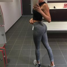 a9ae69266d6903 Vertvie Fitness Women Yoga Pant 2017 Autumn Solid High Waist Hip Up Women  Sweatpant Gym Athleisure Tights Elastic Casual Trouser