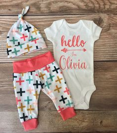 Swiss Cross Newborn Coming Home Outfit