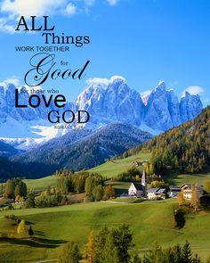 Romans 8:28 Inspirational Bible Verse Art