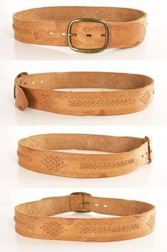 Woven Leather Belt.
