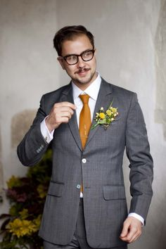 liking the yellow with a more grey suit...will it be too matchy if I have grey bridesmaid's dresses?