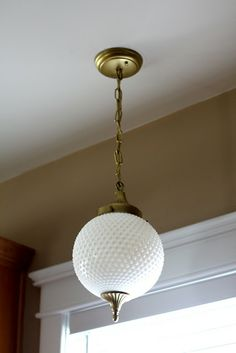Hobnail Milk Glass Light