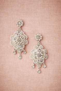 """Crochet Crystal"" Bridal Earrings, designed by Edera Jewelry exclusively for BHLDN"