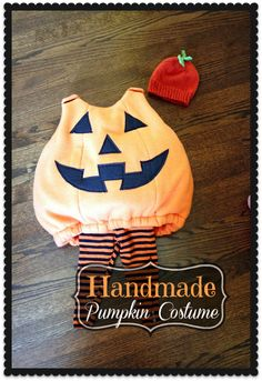 A Jolly and Adorable Handmade Kid Pumpkin Costume for Halloween| Cozy Cape Cottage Guest Post on Delightfully Noted