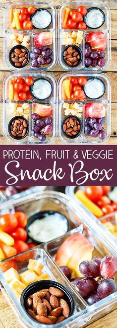 Easy Meal Prep Bistro Style Make-Ahead Fruit and Veggie Snack Boxes Many of these healthy H E A L T H Y . Easy Meal Prep Bistro Style Make-Ahead Fruit and Veggie Snack Boxes Lunch Meal Prep, Healthy Meal Prep, Healthy Snacks For Kids, Healthy Drinks, Healthy Recipes, Snack Recipes, Snack Boxes Healthy, Nutrition Drinks, Make Ahead Healthy Meals