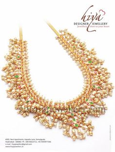 Latest Collection of best Indian Jewellery Designs. Pearl And Diamond Necklace, Pearl Jewelry, Bridal Jewelry, Gold Jewelry, Diamond Necklaces, Indian Jewellery Design, Indian Jewelry, Jewellery Designs, Pearl Chain