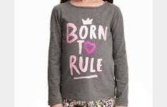 H&M born to rule long sleeve...