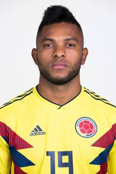 Miguel Borja of Colombia poses for a portrait during the official FIFA World Cup 2018 portrait session at Kazan Ski Resort on June 13 2018 in Kazan. Fifa World Cup 2018, Poses, Skiing, Polo Ralph Lauren, Soccer, Football, Adidas, Portrait, Mens Tops