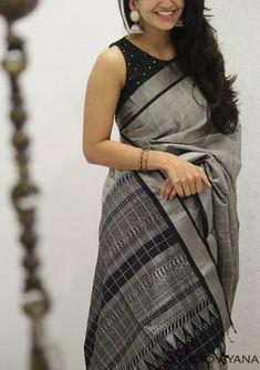 Royale: Light Weight Silk Sarees - House of Ayana Indian Blouse Designs, Cotton Saree Blouse Designs, Half Saree Designs, Trendy Sarees, Stylish Sarees, Fancy Sarees, Sari Design, Designer Kurtis, Designer Wear