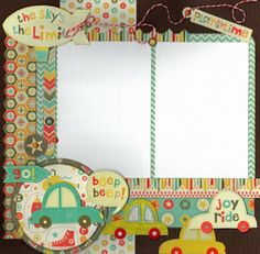 Scrapbook Kit Club,My Minds Eye Kit, Boy Crazy Kit - Crop Circles