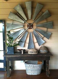 Vintage windmill wings repurposed