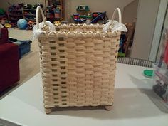 Grocery sack size trash basket tutorial