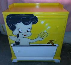 PAINTED BABY CHANGING STATION/CHEST