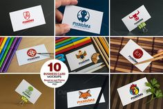 10 Business Card Mock-ups Vol.1 @creativework247