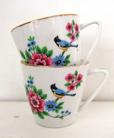 vintage teacups...via all the luck in the world